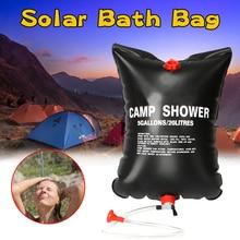 20л портативный открытый кемпинг душ сумка солнечная энергия с подогревом душ купание пикник вода сумка вода хранение для путешествий пеших прогулок барбекю