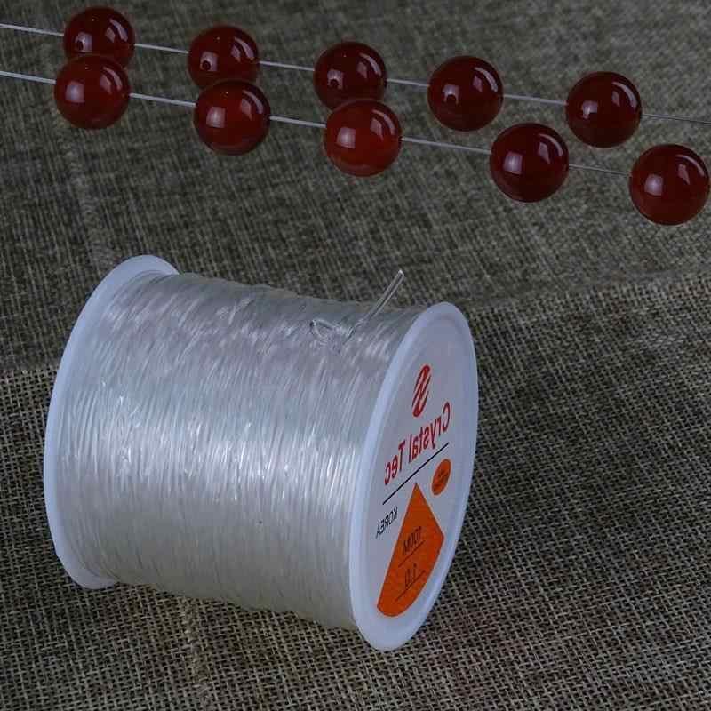 שקוף למתוח אלסטי Spool חבל כבל קריסטל חוט מחרוזת DIY תכשיטי ביצוע ואגלי צמיד חוט דיג 0.8mm