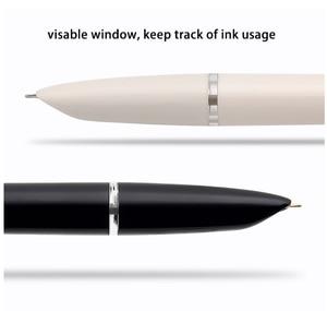 Image 5 - Youpin Kaco Retro Stift Kapuze Spitze füllfederhalter mit Tinte Patrone Geschenk Set Glatte Schreiben Student Praxis Handschrift Stift 0,38mm