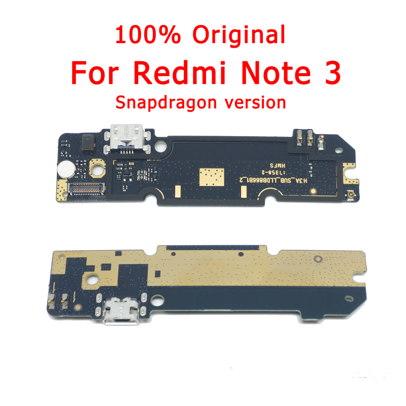 Original Parts For Xiaomi Redmi Note 3 Charge Board USB Plug Flex Cable For Redmi Note 3 Charging Port PCB Connector Spare Parts