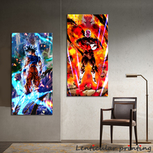 Oil-Painting Wall-Sticker Dbz-Poster Room-Decor Aesthetic Canvas Abstract GOKU Japanese Anime