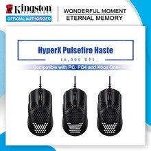 Sensor pixart 16000 do rato do computador do fio de usb do rgb 3335 dpi do rato do jogo da pressa de kingston hyperx pulsefire para o pc, ps4 e xbox um