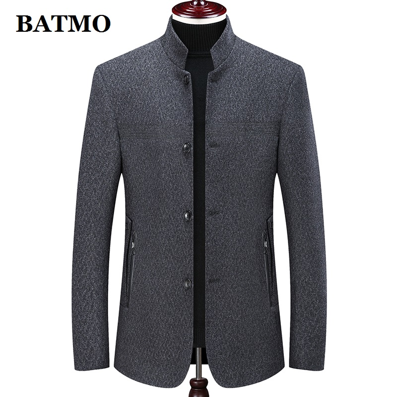 Batmo 2019 new arrival winter wool thicked jackets men,men's winter warm coat,winter jackets men 1902