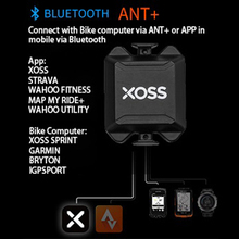 XOSSขี่จักรยานCadence Sensor Speedometer Heart Rate Monitor PRO ANT + บลูทูธ4.0สำหรับวงจรไร้สายคอมพิวเตอร์สำหรับจักรยานAPP