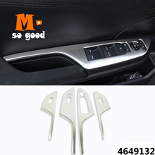 цена на 2016 2017 For Honda Civic 10th door Window glass Lift Control Switch Panel Cover trim Stainless steel styling accessories