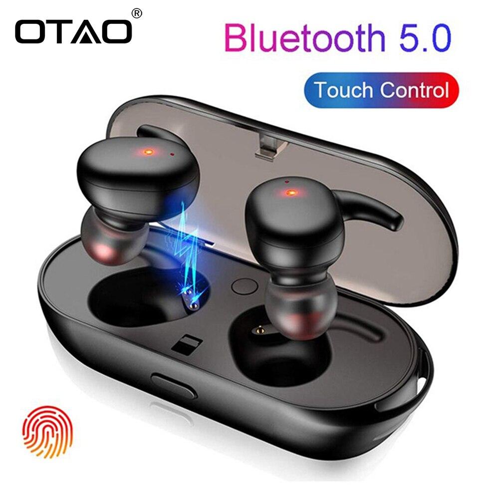 OTÃO TWS Wireless Mini Bluetooth Fones De Ouvido Fones de Ouvido Fone de Ouvido Binaural Esportes Toque À Prova D' Água Fone De Ouvido fone de Ouvido Com Caixa de Carga