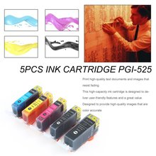 5PCS Ink Cartridge PGI-525 For Canon Pixma MG5250
