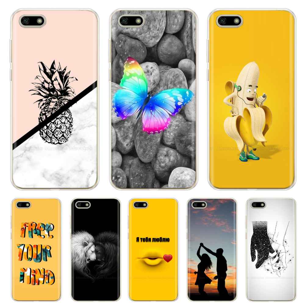 Soft Silicone Printed Cover For <font><b>Huawei</b></font> Y5 <font><b>2018</b></font> case Y5 Lite <font><b>2018</b></font> TPU Cute Case for <font><b>Huawei</b></font> Y5 <font><b>Y</b></font> <font><b>5</b></font> Prime <font><b>2018</b></font> <font><b>Fundas</b></font> Coque Bumper image