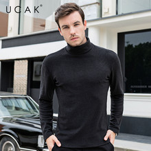 UCAK Brand Sweaters Men PolyesterTurtlneck Solid Casual 2020 New Arrival Tops Fashion Trend Streetwear Pullover Sweaters U1053