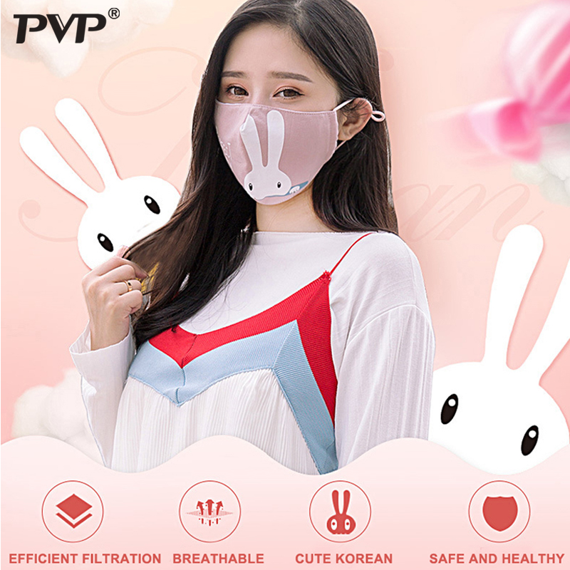 PVP 1Pcs Mask Dust Anti Pollution PM2.5 Activated Carbon Filter Insert Can Be Washed Reusable Pollen Cotton Mouth