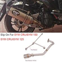 For Sym CRUISYM 150 Sym CRUISYM 125 CRUISYM150 Motorcycle Exhaust System Escape Modify Front Link Pipe Connection 51mm Muffler