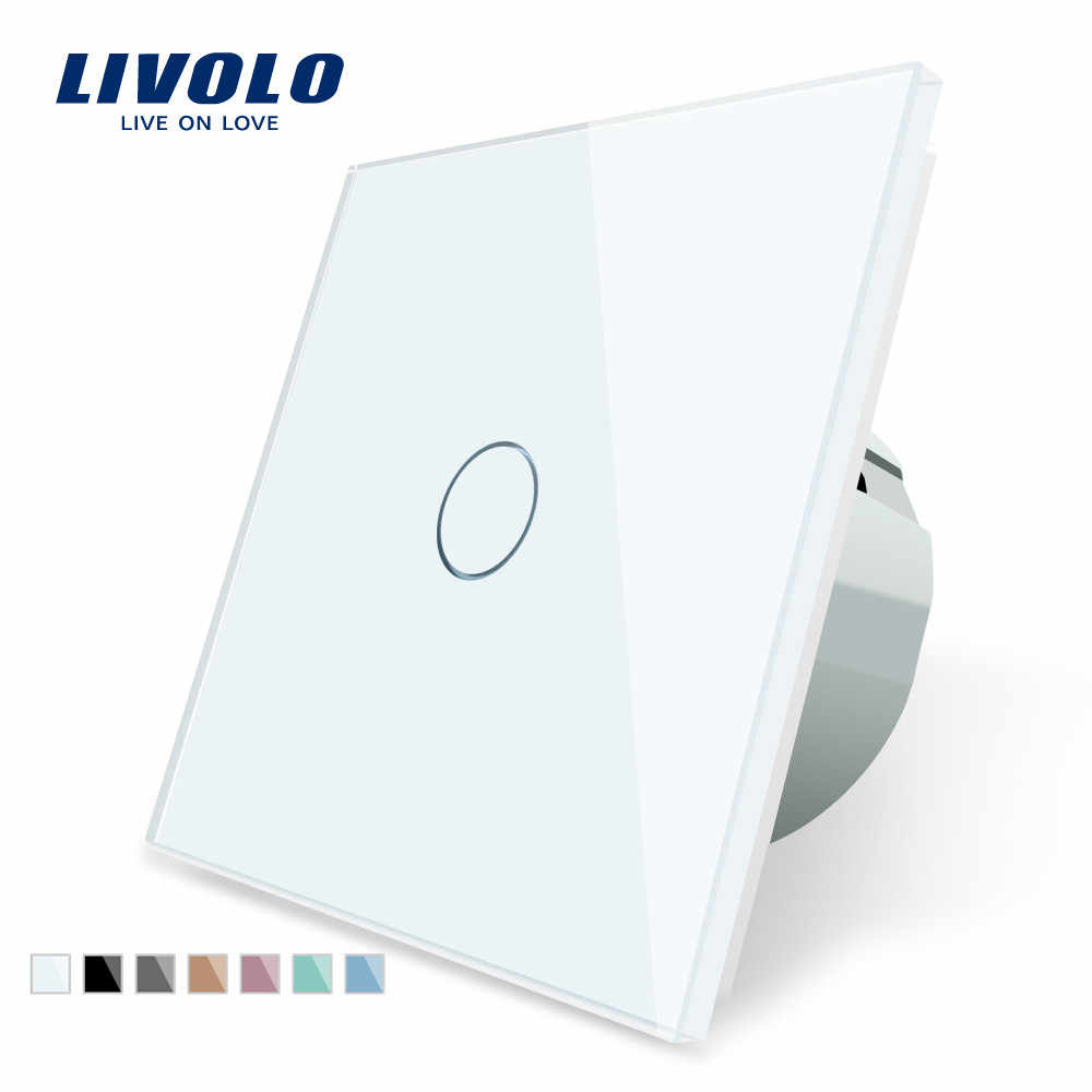 Livolo Luxe Muur Touch Sensor Switch, Eu Standaard Lichtschakelaar, Crystal Glass Switch Power, 1Gang 1Way Schakelaar, 220-250,C701-1/2/5