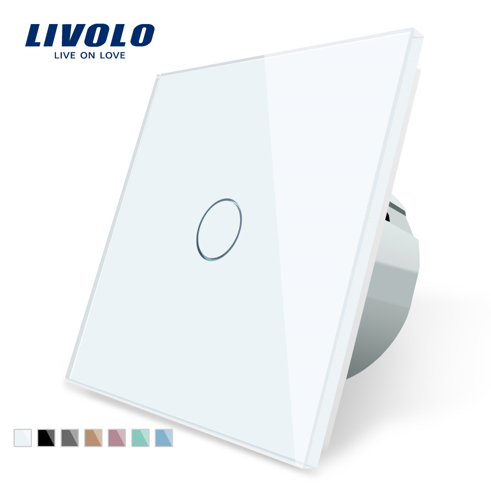 Livolo Switch EU Crystal Touch-Sensor Wall Power-1gang Luxury 220-250 Standard C701-1/2/5