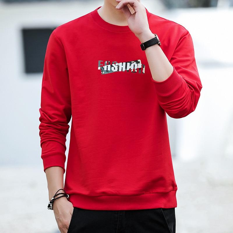 Hot Sale Spring New Fashion Men Hoodies Personality Printing Men Pure Color Pullover Hoodies Men Leisure Long Sleeve Sweatshirts 1