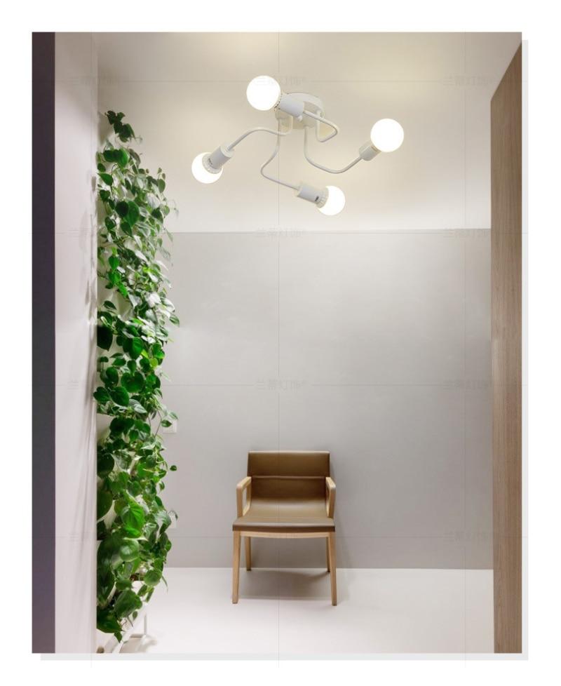 de teto branco 4 cabeças luz para