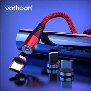 Vothoon-Cable de carga magnético para móvil, Cable Micro USB tipo C de 2,4 a para iphone 11Pro, Xs, Samsung S7, Xiaomi