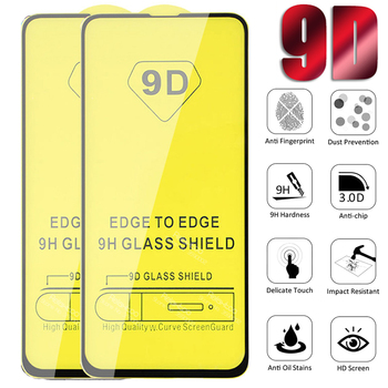 10pcs/lot 9D Full Tempered Glass For Xiaomi 9 Pro 10 Lite Screen Protector For xiaomi MI CC9e 8Lite 5X 6 A2 Play Protective Film