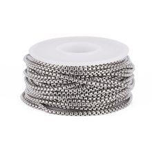 10 м/рулон 2x2x1 мм спаянная 304 нержавеющая сталь цепочки в