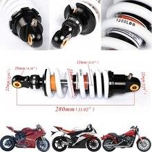Tdpro 280mm 후면 충격 흡수기 오토바이 서스펜션 스프링 125cc 140cc 160cc 먼지 핏 프로 자전거 쿼드 atv 1200lbs