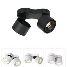 Możliwość przyciemniania Super Bright obrotowe oprawy LED 20W 24W 30W 36W COB LED sufitowe lampy punktowe 90-260V LED kinkiet oświetlenie wewnętrzne tanie tanio ROHS CN (pochodzenie) Metrów 5-10square Foyer 90-260 v Brak Black Aluminium Żarówki led Współczesna Oświetlenie dzienne