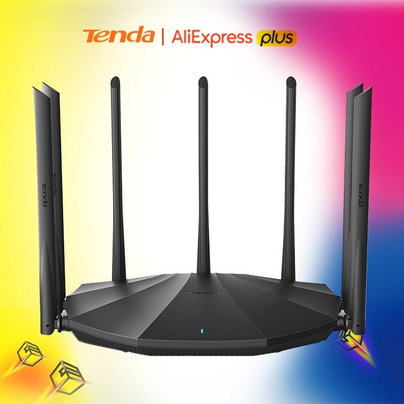 Tenda AC23 AC2100 маршрутизатор двухгигабитный 2,4G 5,0 ГГц двухдиапазонный 2033 Мбит/с беспроводной маршрутизатор Wifi ретранслятор и 7 антенн с высоким ...