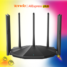 Tenda AC23 AC2100 Router Dual-Gigabit 2,4G 5,0 GHz Dual-Band 2033Mbps Wireless Router Wifi Repeater & 7 High Gain Antennen Breiter