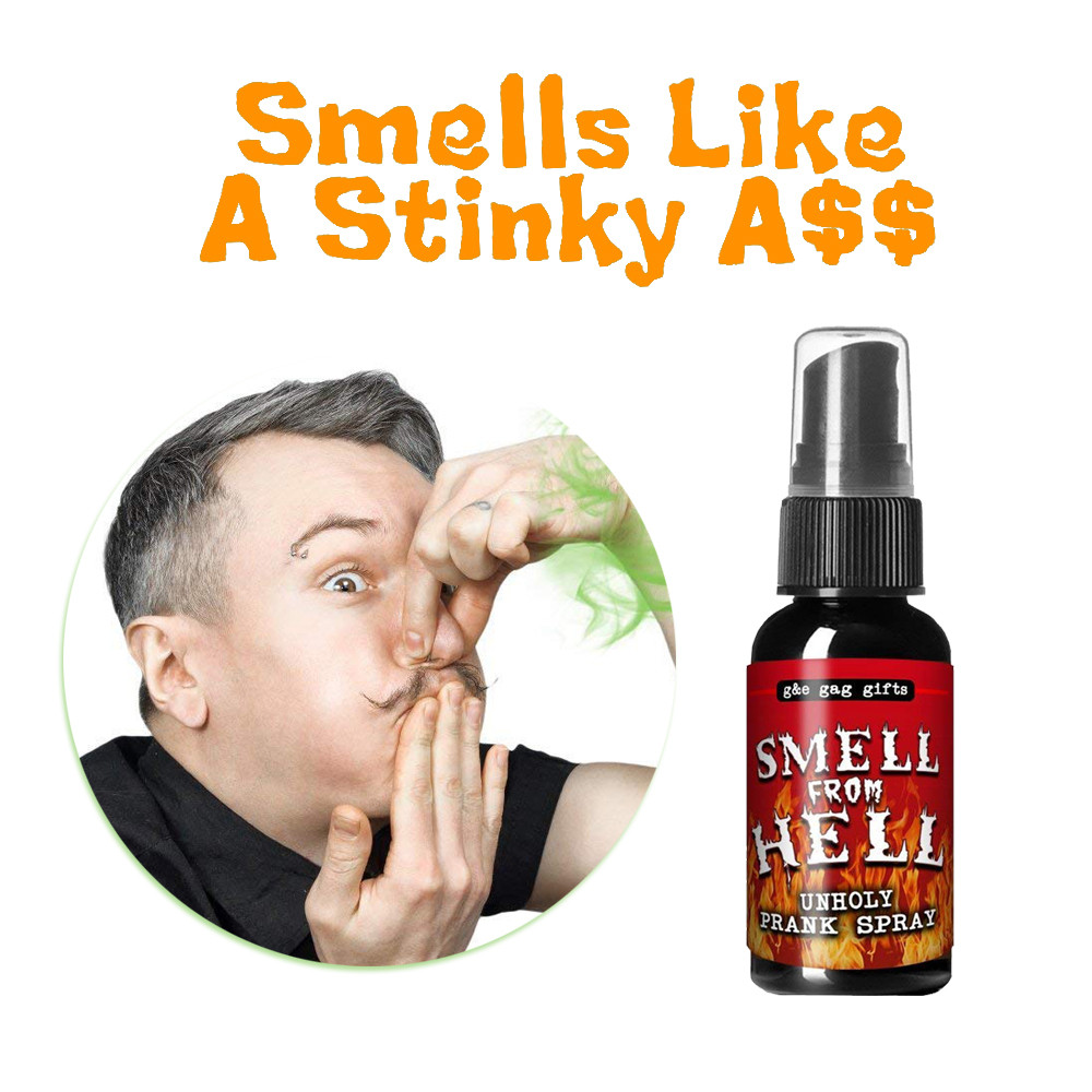New Novelty Toys Hallowmas Tricks Toy Novelties Liquid Fart Gag Prank Joke Spray Can Stink Bomb Smelly Stinky Gas Crap For Prank