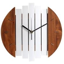 Wooden Wall Clock Modern Design Vintage Rustic Shabby Clock Quiet Art Watch Home Decoration creative gear wooden wall clock vintage industrial style clock wooden electronic home decorative wall clock