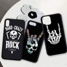 Rock roll skull TPU + PC phone cover case for iphone se 2020 6 6s 7 8 plus x xs max xr 11 12 pro max coque(China)