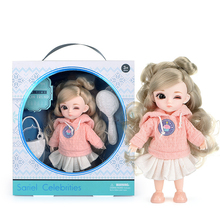 13 Movable Jointed BJD Dolls Toys Mini Lovely 16cm Baby Girl Dress Up Fashion Dolls Play House Toy Kids Toys for Girls Gift