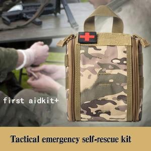 Image 5 - 캠핑 응급 처치 키트 응급 처치 가방 빈 의료 가방 방수 군사 전술 블랙 야외