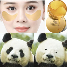 24k gold eye patch 60pcs Dark Circle mask collagen patches Anti-Puffiness gel pads Anti-Aging Moisturizing Female