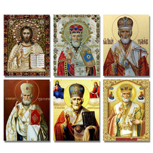 Full Round Diamant Painting 5d Diy Diamond Painting Cross Stitch Religion Icon Of Leader Diamond Mosaic True Religious Men full round diamant painting 5d diy diamond painting cross stitch religion icon of leader diamond mosaic true religious men