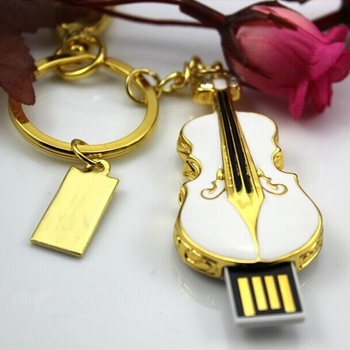 Mini Violin USB 32GB 64GB 128GB Flash Drive Usb 2.0 Pen Drive Flash Memory Stick Disk Key Chain Pendrive 1tb 2tb Pendriver Gift
