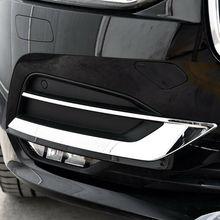 Автомобильный Стайлинг хромированный стикер для Volvo S90 V90-19 передняя противотуманная фара украшение крышка отделка полосы внешние аксессуары