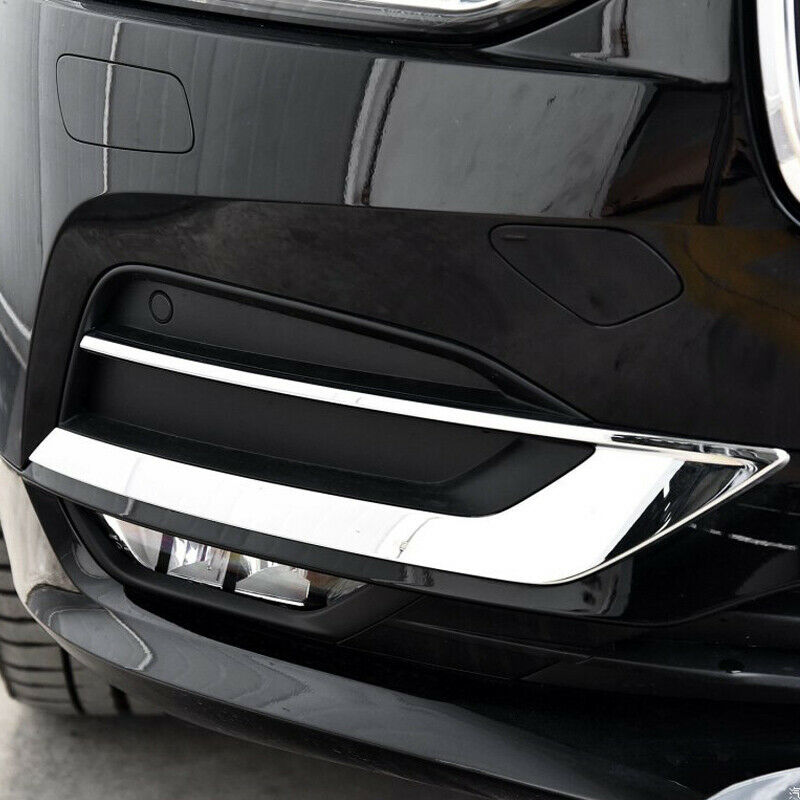 Car Styling Chrome Sticker For Volvo S90 V90 2017-19 Front Fog Light Decoration Cover Trim Strip Exterior Accessories
