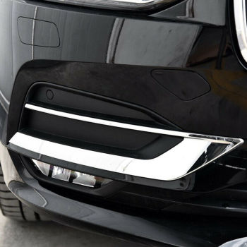 Car Styling Chrome Sticker For Volvo S90 V90 2017-19 Front Fog Light Decoration Cover Trim Strip Exterior Accessories