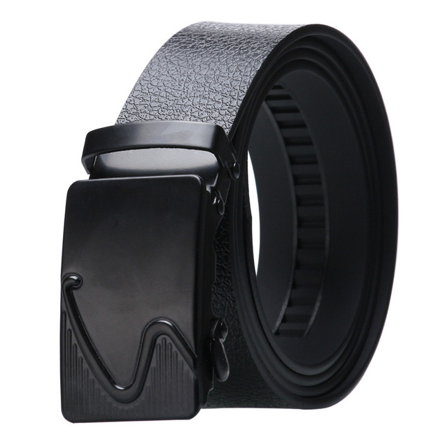 Alloy Buckle Artificial Leather Bark texture Business Casual Belt 6