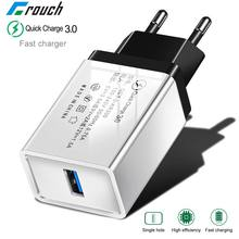 Fast USB Charger Quick Charge 3.0 5V3A Travel Wall Charger Adapter Mobile Phone Charger for iPhone 8 7 6 Samsung S8 S9Tablet EU(China)