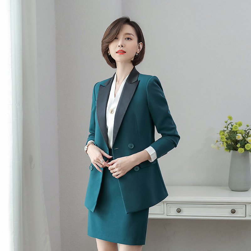 2020 Korean Version Of New High-quality Women's Professional Wear Casual Ladies Office Blazer Jacket Two-piece Slim Trousers