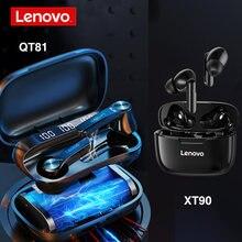 Lenovo qt81 xt90 xe05 tws fone de ouvido sem fio bluetooth à prova dhifi água fones alta fidelidade sem fio fone com microfone esporte
