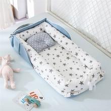 Cama de nido de bebé portátil para niños y niñas, cama de viaje, cuna de algodón infantil, cuna de bebé, cuna de bebé, cama de recién nacido