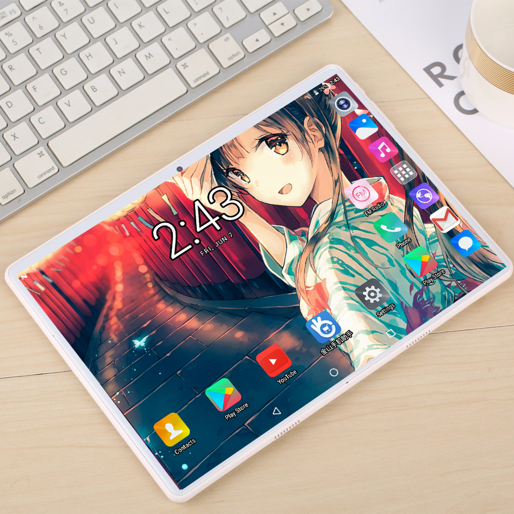 New Google Tablet PC 10 Inch 8GB RAM 128GB ROM 4G LTE Android 9.0 Ten Core Tempered Tablets Dual Sim WiFi GPS 10.1 Tablet IPS