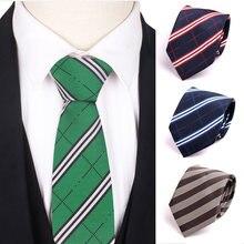 Новый Полосатый галстук жаккардовый тканый классический для