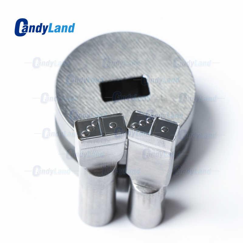 CandyLand Logo Dice Die Tablet 3D Pílula Imprensa Molde Do Doce de Perfuração Morrer Logotipo Personalizado de Cálcio Tablet Soco Morre Por TDP Máquina 0