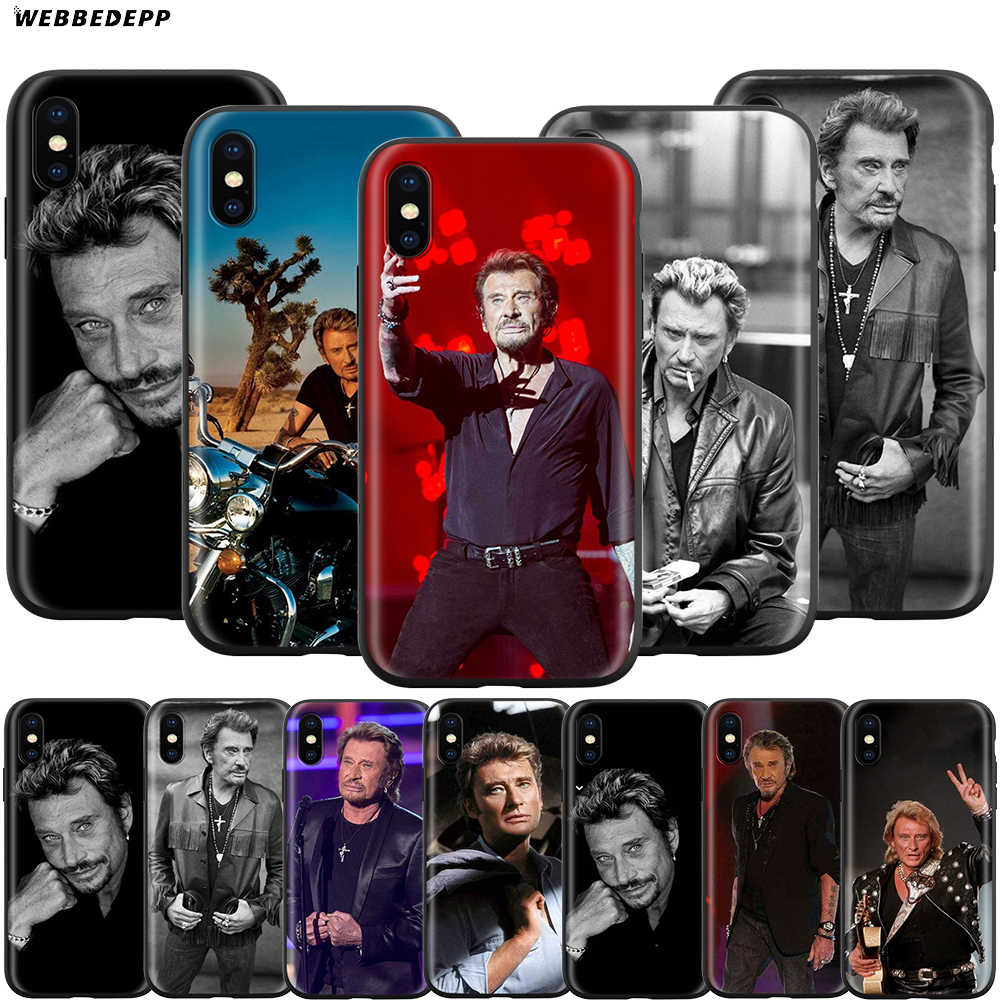Webbedepp johnny hallyday etui na Apple iPhone 11 Pro XS Max XR X 8 7 6 6S Plus 5 5S SE