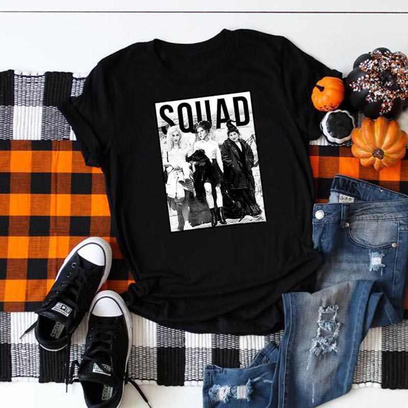 Vrouwen Grappig Movie Hocus Pocus Shirt Geen Leven Tops Meisjes Print Punk Gothic Horror Cool T-shirt Halloween Tee