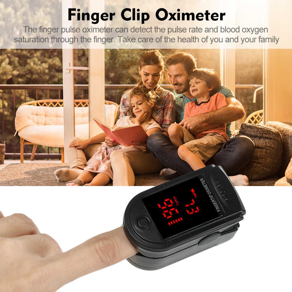 Dijital parmak Pulse oksimetre kan oksijen sensörü doygunluğu Mini SpO2 monitörü nabız ölçüm ölçer