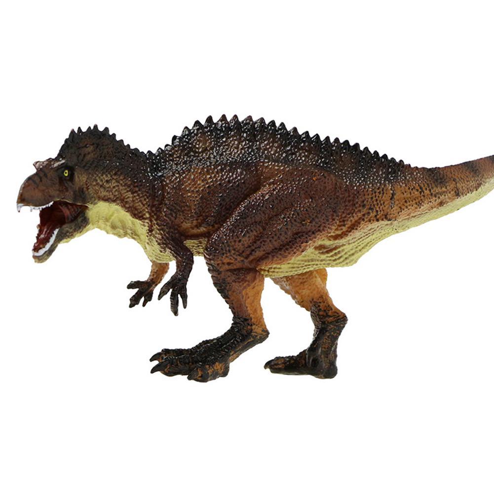 Simulation Acrocanthosaurus Dinosaur Animal Figurine Model Desk Decor Kids Toy Gift For Children Kids Birthday Party New