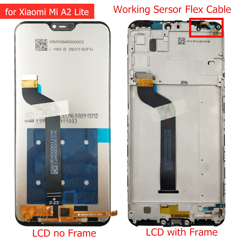 Image 3 - LCD Display for Xiaomi Mi A2 Global/ Mi A2 Lite LCD Display Touch Screen with Frame LCD Display Digitizer Touch Repair Parts-in Mobile Phone LCD Screens from Cellphones & Telecommunications on